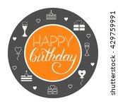 happy birthday card. happy... | Shutterstock .eps vector #429759991