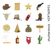 western 16 vector icon set in... | Shutterstock .eps vector #429760951