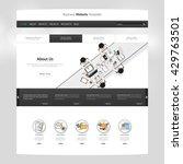 flat website template design.