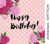 vector happy birthday greeting... | Shutterstock .eps vector #429775144