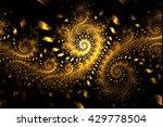 Abstract Fantasy Golden Swirly...