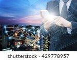 double exposure of professional ...   Shutterstock . vector #429778957