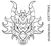 Black Dragon Tattoo Design On...