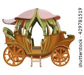 vintage carriage isolated on...   Shutterstock .eps vector #429781519