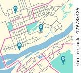 vector flat abstract city map...   Shutterstock .eps vector #429783439