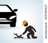 repair design. auto icon.... | Shutterstock .eps vector #429784327