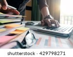 business documents and office... | Shutterstock . vector #429798271