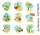 A Set Of Nine Emblems On Beach...