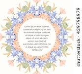 mandala flower decorative card. ... | Shutterstock .eps vector #429798979