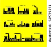 industrial buildings icon set. | Shutterstock .eps vector #429798991