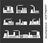 industrial buildings icon | Shutterstock .eps vector #429798997