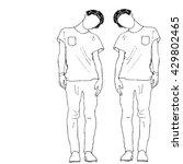 sketch of people  vector... | Shutterstock .eps vector #429802465