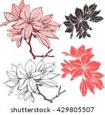 Set With  Azalea Flower ....