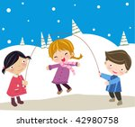 skipping | Shutterstock .eps vector #42980758