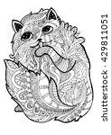 psychedelic linear illustration ... | Shutterstock .eps vector #429811051