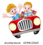 a boy and girl having great fun ... | Shutterstock .eps vector #429812065
