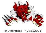 welsh red dragon y ddraig goch... | Shutterstock .eps vector #429812071