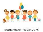 children. cartoon characters....   Shutterstock .eps vector #429817975