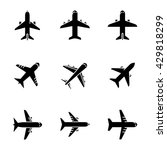 airplane icons. vector set of... | Shutterstock .eps vector #429818299