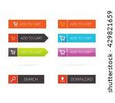 buttons vector flat set  add to ... | Shutterstock .eps vector #429821659