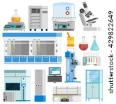 science flat color isolated... | Shutterstock .eps vector #429822649