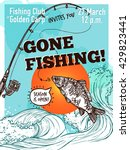 gone fishing advertising poster ... | Shutterstock .eps vector #429823441