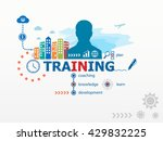 training concept and business... | Shutterstock . vector #429832225
