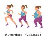vector illustration of fat... | Shutterstock .eps vector #429836815