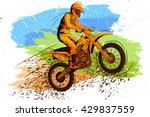 concept of sportsman doing... | Shutterstock .eps vector #429837559