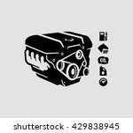 car engine vector    Shutterstock .eps vector #429838945