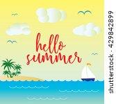 hello summer vector template... | Shutterstock .eps vector #429842899