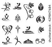 spa massage icons. set of black ... | Shutterstock .eps vector #429847684