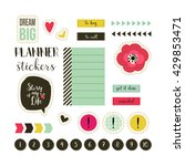 planner stickers. signs ... | Shutterstock .eps vector #429853471