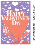 happy valentine day card vector ...   Shutterstock .eps vector #429854104