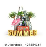 traveling bags and attractions... | Shutterstock . vector #429854164