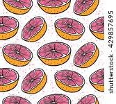 juicy grapefruits . vector... | Shutterstock .eps vector #429857695