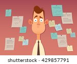 funny cartoon character. tired... | Shutterstock .eps vector #429857791