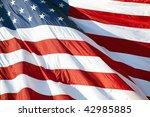 part of american flag waving in ... | Shutterstock . vector #42985885