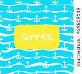 vector sea style background... | Shutterstock .eps vector #429859519