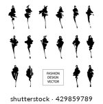 set of fashion logos hand drawn.... | Shutterstock .eps vector #429859789