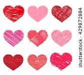 set of valentine hearts  vector ...   Shutterstock .eps vector #429872884