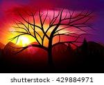 sunset. nature sunset landscape.... | Shutterstock .eps vector #429884971