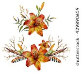Watercolor Tiger Lily Bouquet...