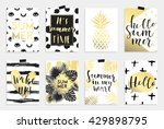 summer hand drawn calligraphyc... | Shutterstock .eps vector #429898795