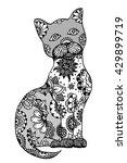 hand drawn doodle outline... | Shutterstock .eps vector #429899719