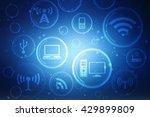 digital abstract technology... | Shutterstock . vector #429899809