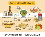 recipe for homemade oat sticks... | Shutterstock .eps vector #429905125