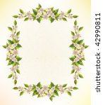 floral frame | Shutterstock . vector #42990811