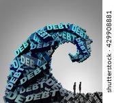 debt pressure financial concept ... | Shutterstock . vector #429908881