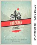 retro style wilderness poster...   Shutterstock .eps vector #429910129